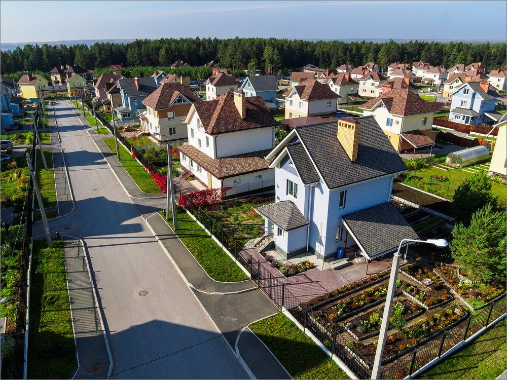 Коттеджный поселок картинка для детей