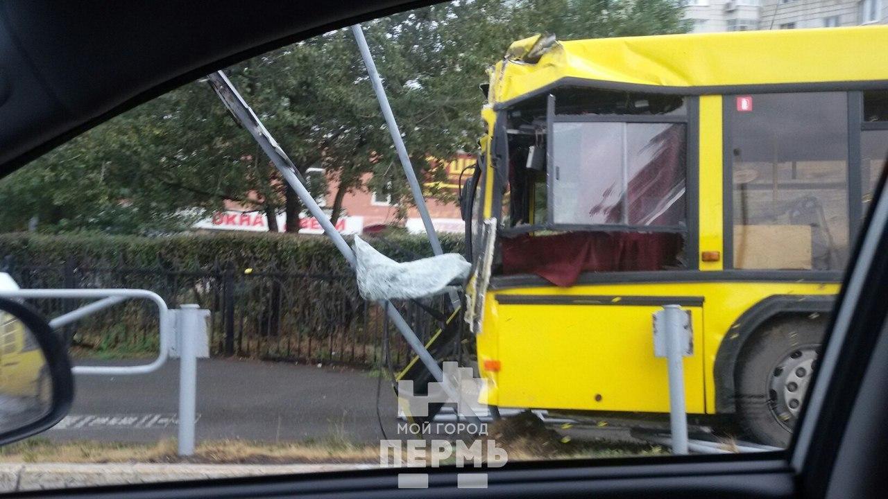ВПерми один автобус протаранил другой