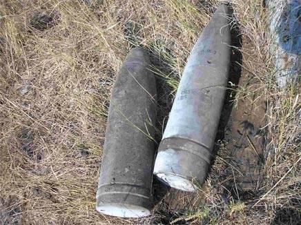 Пермячка нашла вогороде артиллерийский снаряд