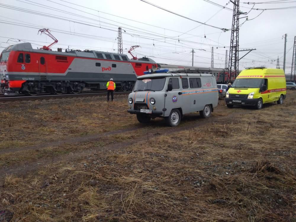 ВКунгуре из-за сообщения обомбе остановили пассажирский поезд