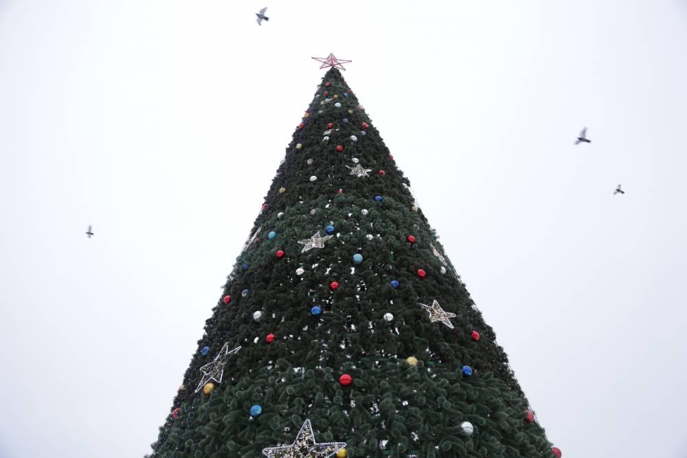 В Перми появилась елка из внедорожников