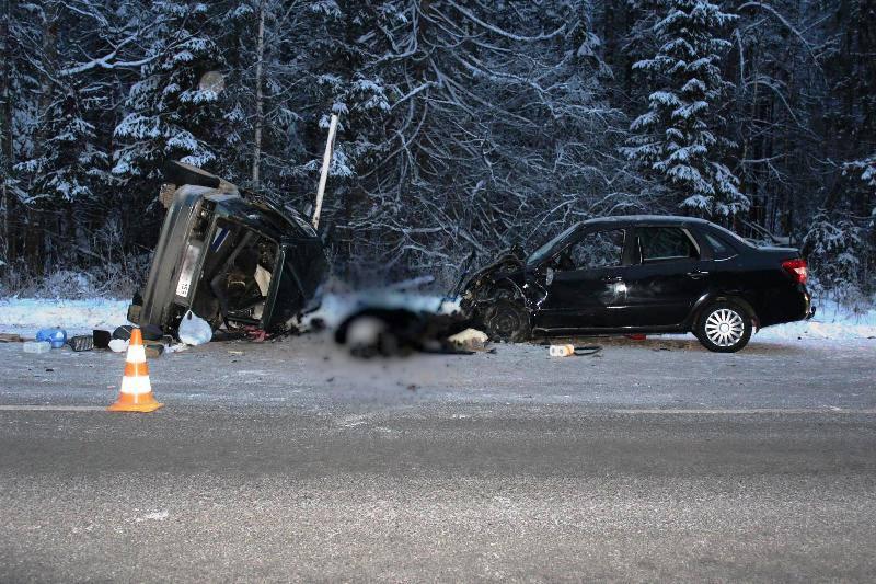 Натрассе вПермском крае столкнулись ВАЗ и«Лада», два человека погибли